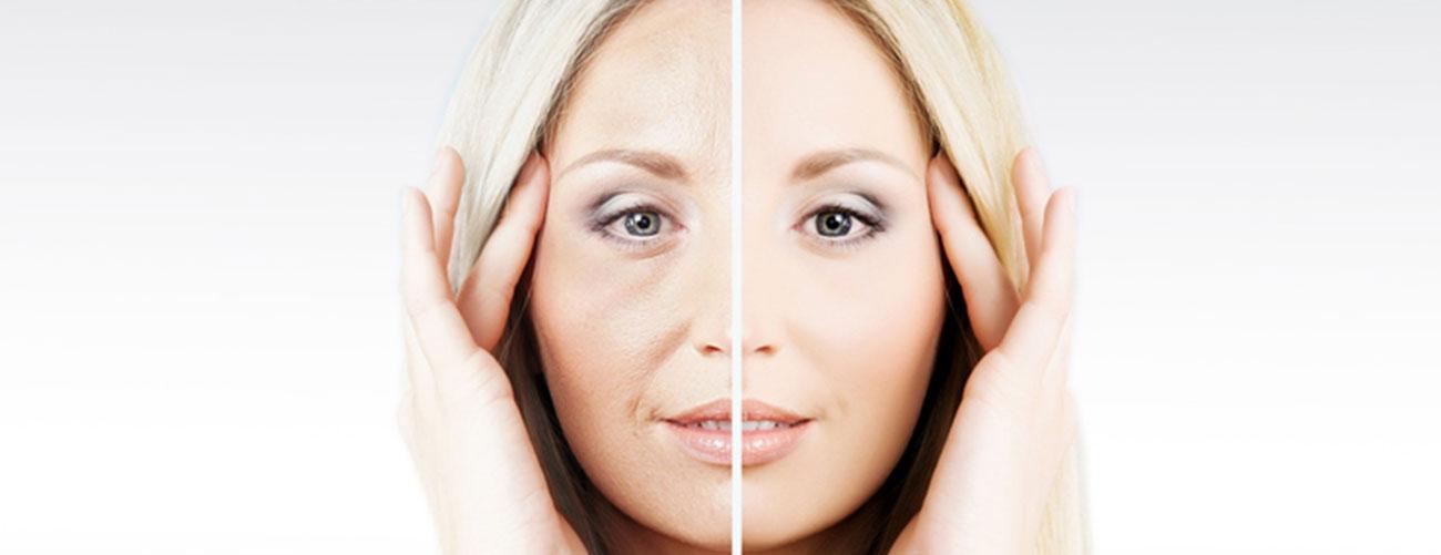 Le vieillissement du visage par âge